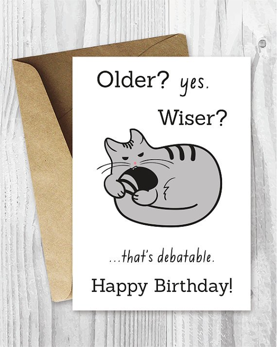 Happy Birthday Cards Funny Printable Birthday Cards Funny Cat Birthday Card Digital Download Birt