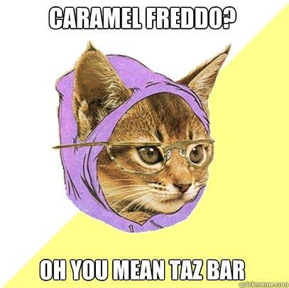 Caramel Freddo Cat Meme