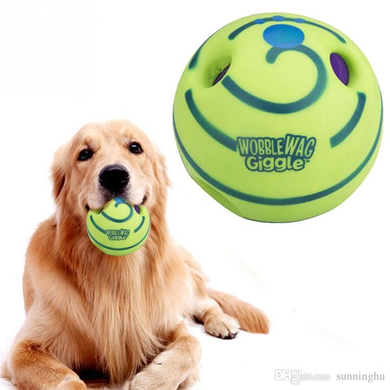 Interesting Ecofriendly Wobble Wag Giggle Ball Dog Play Training With Funny Sound Make Dogs Happy Interesting Dog Ball Training line with $13 22 Piece on
