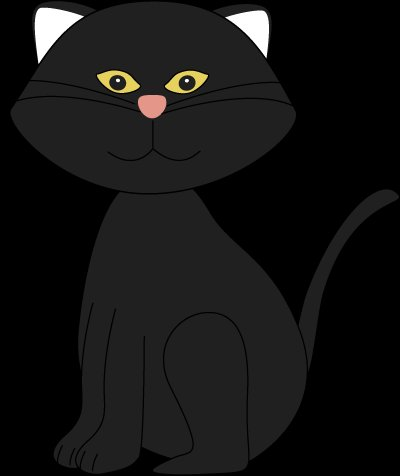 Halloween Black Cat Clipart