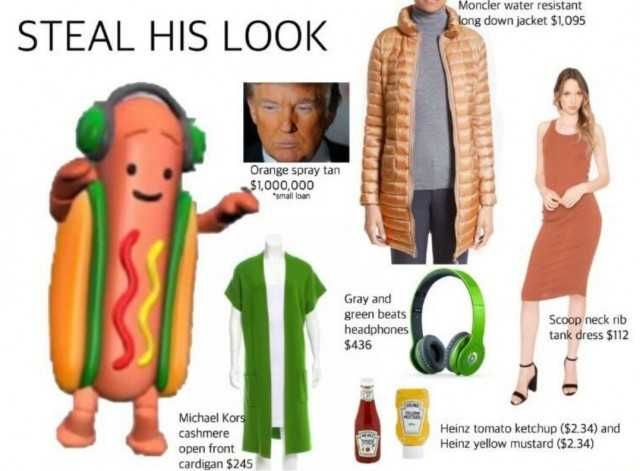 STEAL HIS LOOK Dancing hot dog