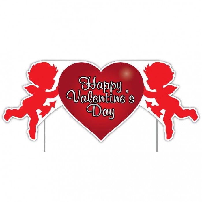 Valentine s Lawn Decoration Happy Valentine s Day Cupid 2 x 4 Sign