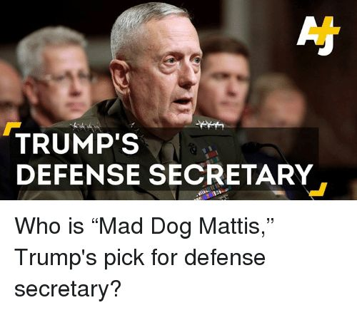 "Memes 🤖 and Mad Dogs TRUMP S DEFENSE SECRETARY Who is ""Mad Dog"