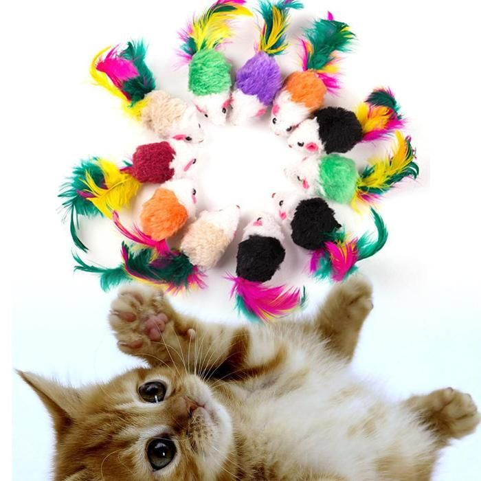 10 Pcs False Mouse Pet Cat Toys Interactive Cheap Mini Funny Mice & Animal Playing Toys