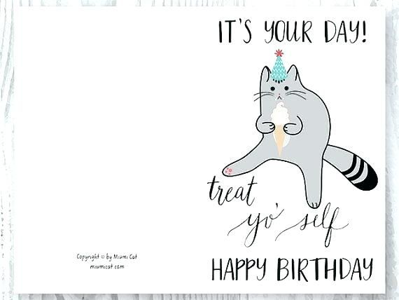 photo relating to Cat Birthday Card Printable named View the Luxurious Amusing Cat Birthday Invite Pics