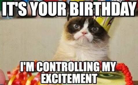Top happy birthday meme funniest ever bday funny meme 477x296 Cat cake memes birthday pic
