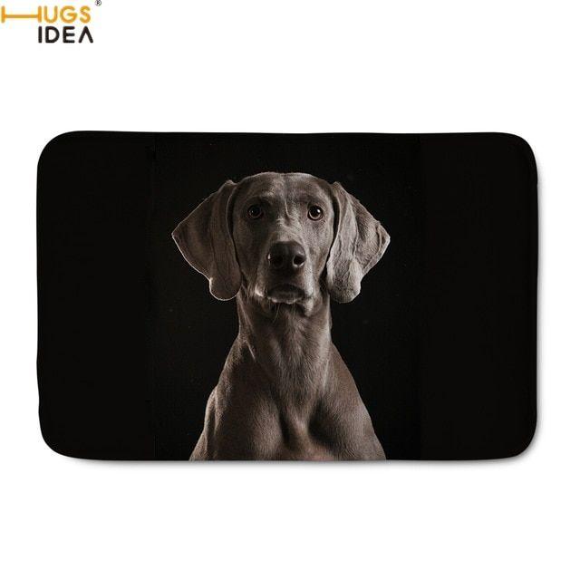 HUGSIDEA Funny 3D Dog Weimaraner Print Door Carpets for Living Room Bedroom Kitchen Doormats