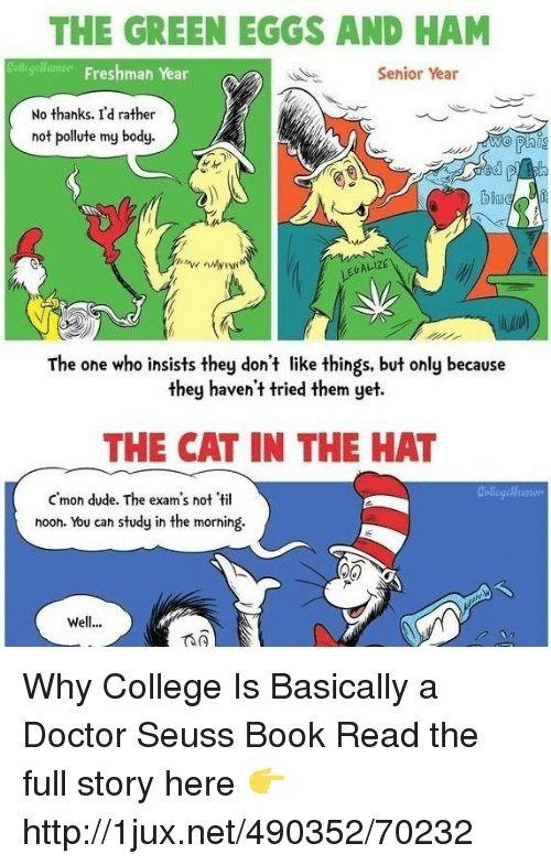 Bo s Books and Cats THE GREEN EGGS AND HAM ollege lumen Freshman Year