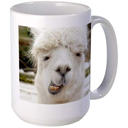 CafePress Funny Alpaca Smile Mugs Coffee Mug 15 oz White Coffee