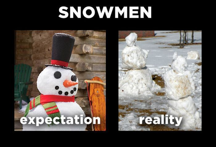 Expectations vs Reality Meme Snowmen