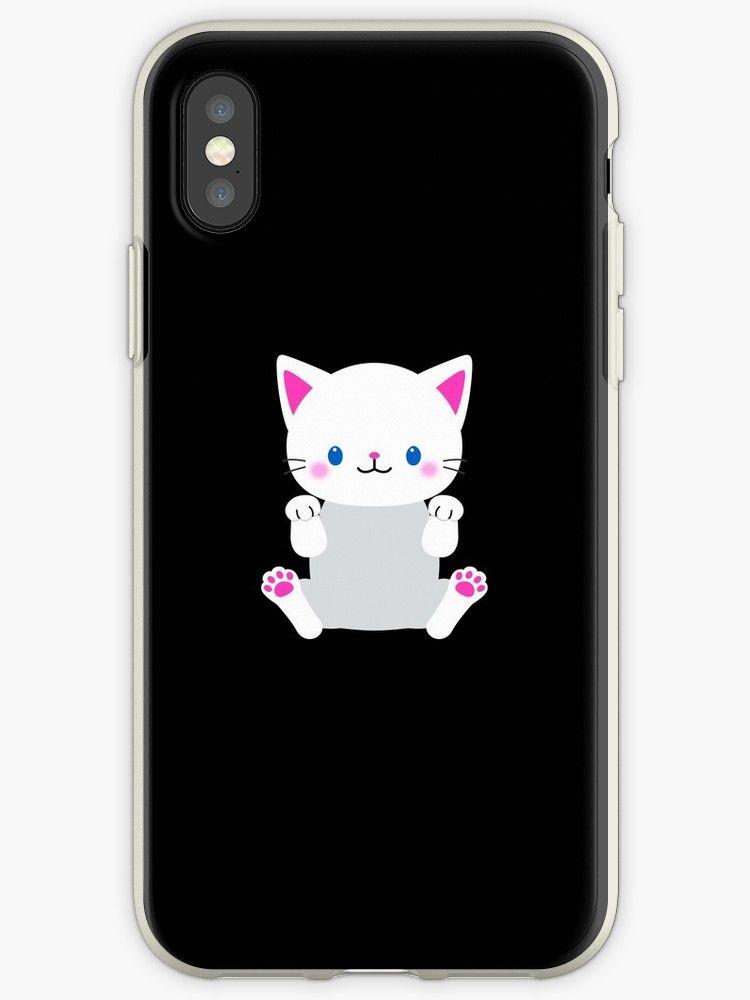 Funny Kitty Cat Hug Cute Emoji Kitten Lover Gift by JapaneseInkArt