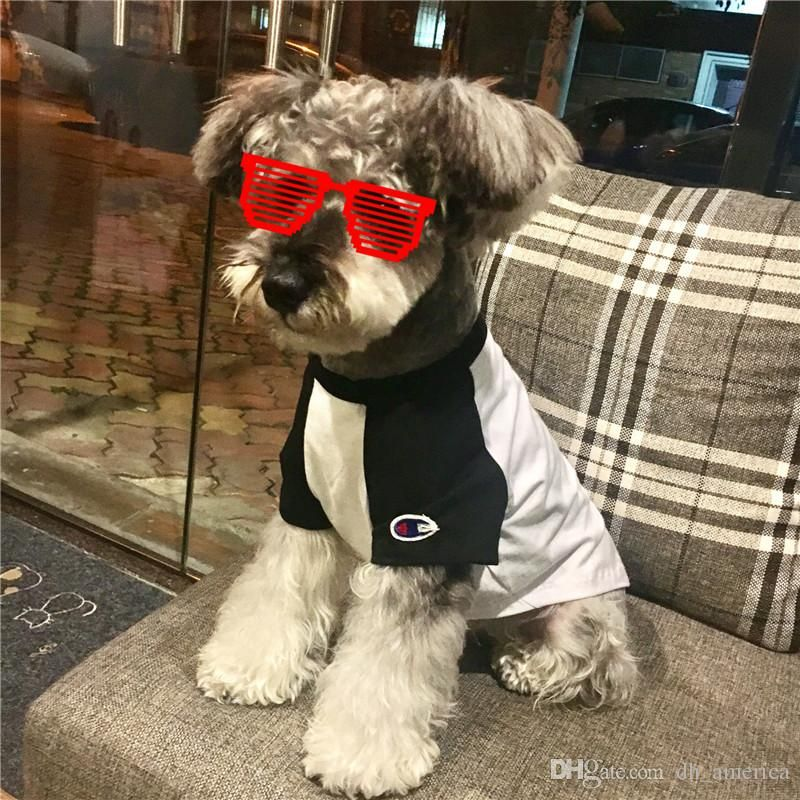 2018 Fashion Brand Pets Dog Cat Apparel Cute Dog Outwears Pet Puppy Shirt Summer Autumn Pets Clothes From Dh america $18 2
