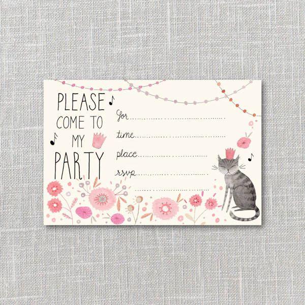 Funny Kitty Party Invitation