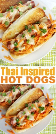 Thai Inspired Hot Dogs are an easy and gourmet hot dog lunch idea everyone will love