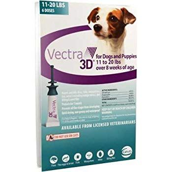 VECTRA 3D Teal for Medium Dogs 11 20 Pounds 6 Doses