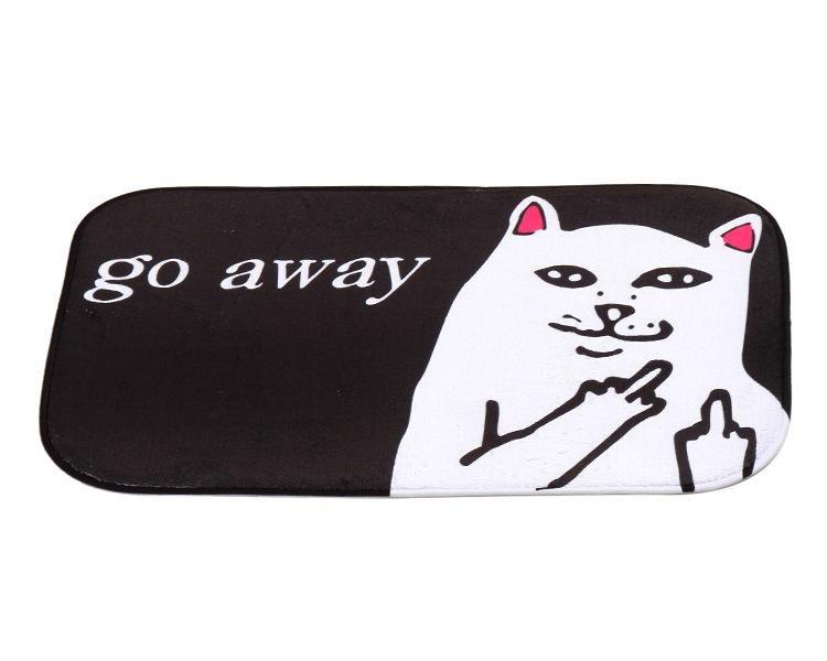 Go Away Cat Meme Non Slip Mat