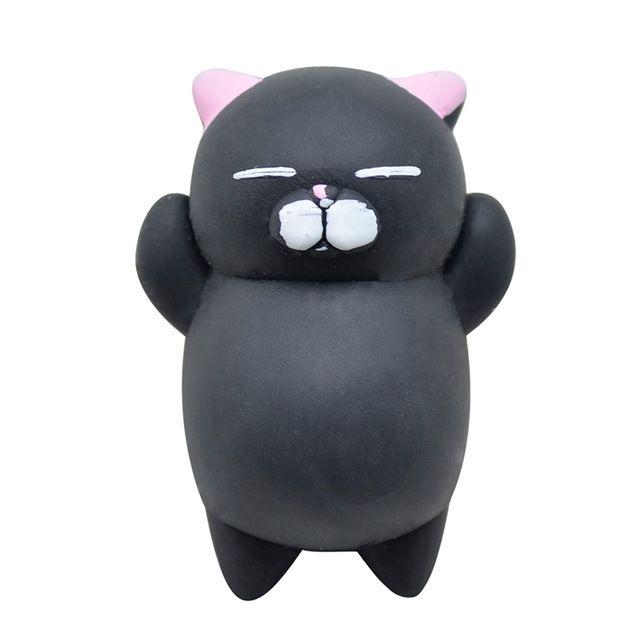 New Black Cute Mochi Squishy Cat Squeeze Healing Fun Kids Kawaii Toy Stress Reliever Decor Kids