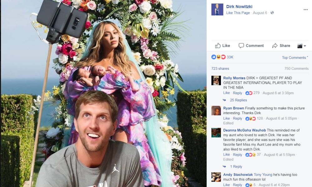Dirk Nowitzki has updated his profile picture to include Beyonce and her twins