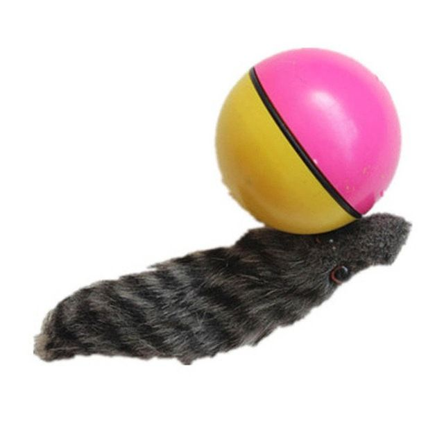LanLan Funny Moving Attractive Electric Beaver Rolling Ball Pet Dog Cat Toy Jump Moving Self Rolling