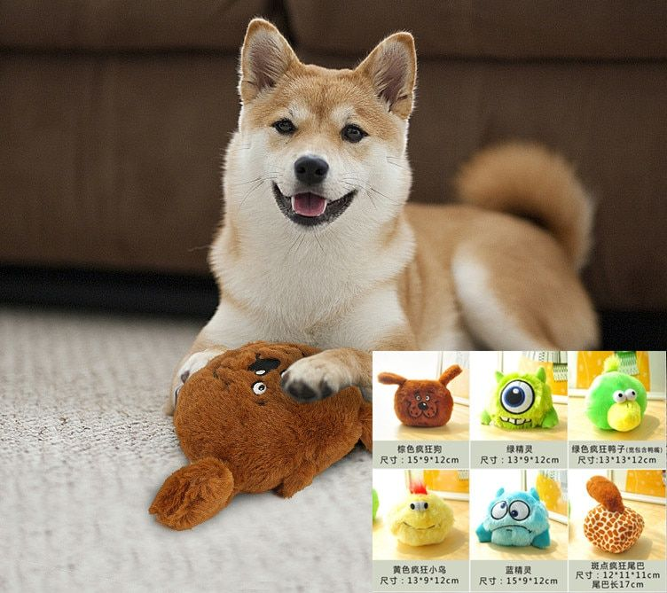 Electric Toy Ball Dog Cat Toy Automatic Pet Plush Ball Activation Automatic Ball Chew Plush animal
