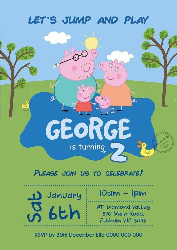 Pig Birthday Cards Printable Inspirational Peppa Pig Invitation Peppa Pig Birthday Invitation Peppa Pig