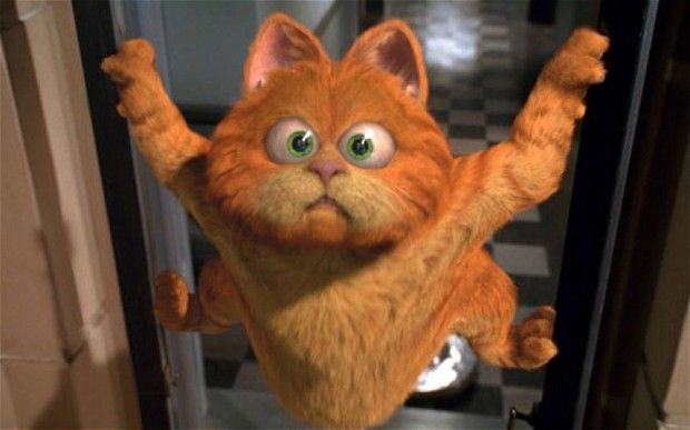 The movie version of Garfield the ic strip cat created by Jim Davis in