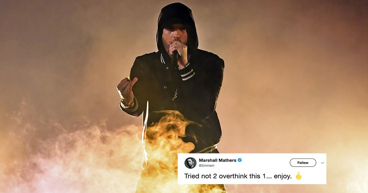 Eminem just dropped a surprise album called Kamikaze and people are into it