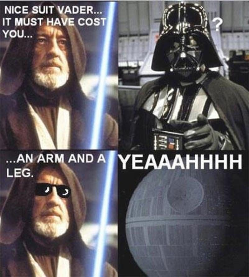 Need some ice for that burn Darth