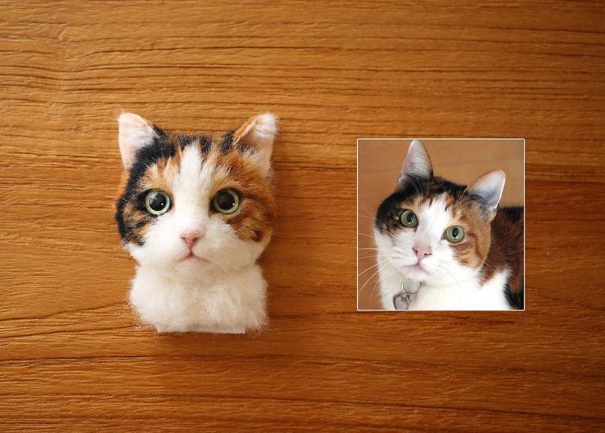 Umelkyňa vytvára portréty mačiek z obyčajnej vlny no len Å¥ažko ich rozoznáte od t½ch živ½ch