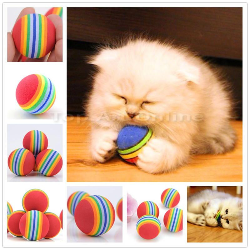 Details about New 2Pcs Funny Alive Dog Cat Kitten Weasel Jumping Moving Rolling Pet Balls Toys