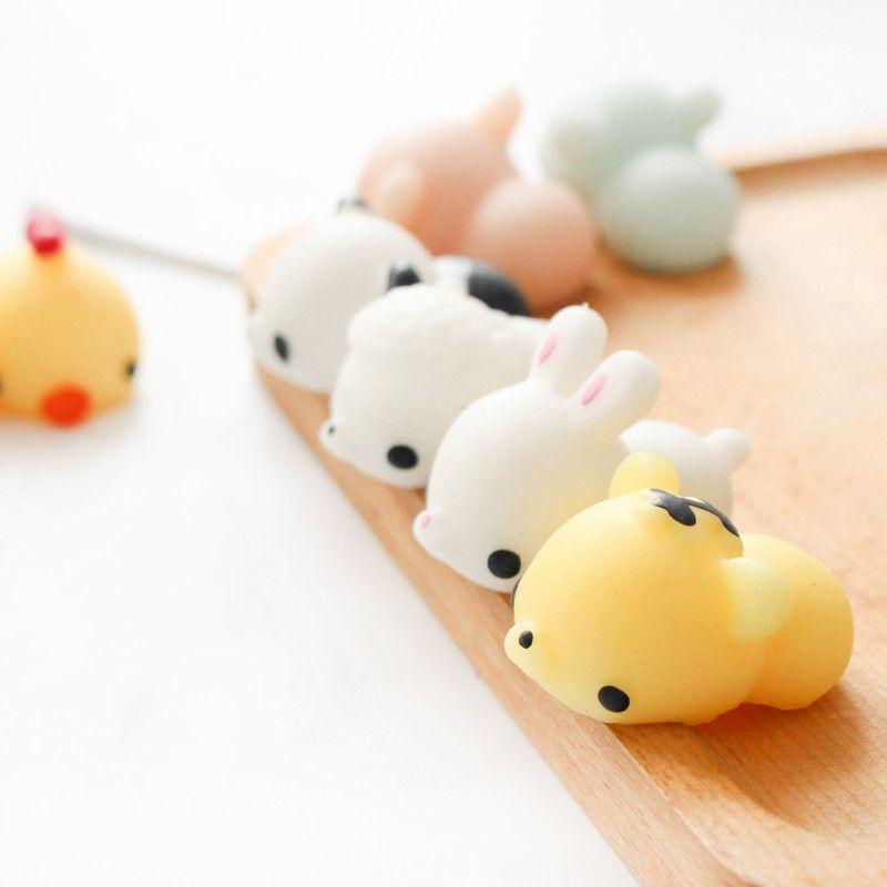 6PCS Chicken Tiger Bunny Bear Pig Squishy Squeeze Cute Healing Toy Collection Gift Decor