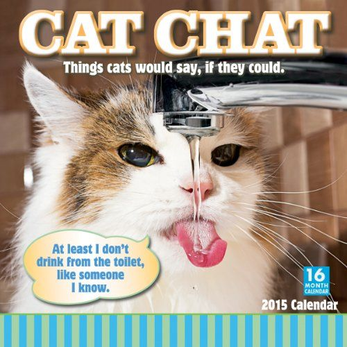 Cat Chat Things cats would say if they could 2015 Wall Calendar