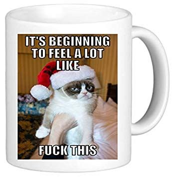 Image Unavailable Image not available for Color Its Beginning Grumpy Cat Meme Secret Santa fice Funny