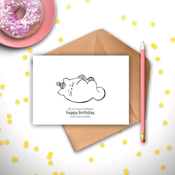 funny cat birthday cards funny cat birthday card printable instant digital card from cat cat funny cat birthday