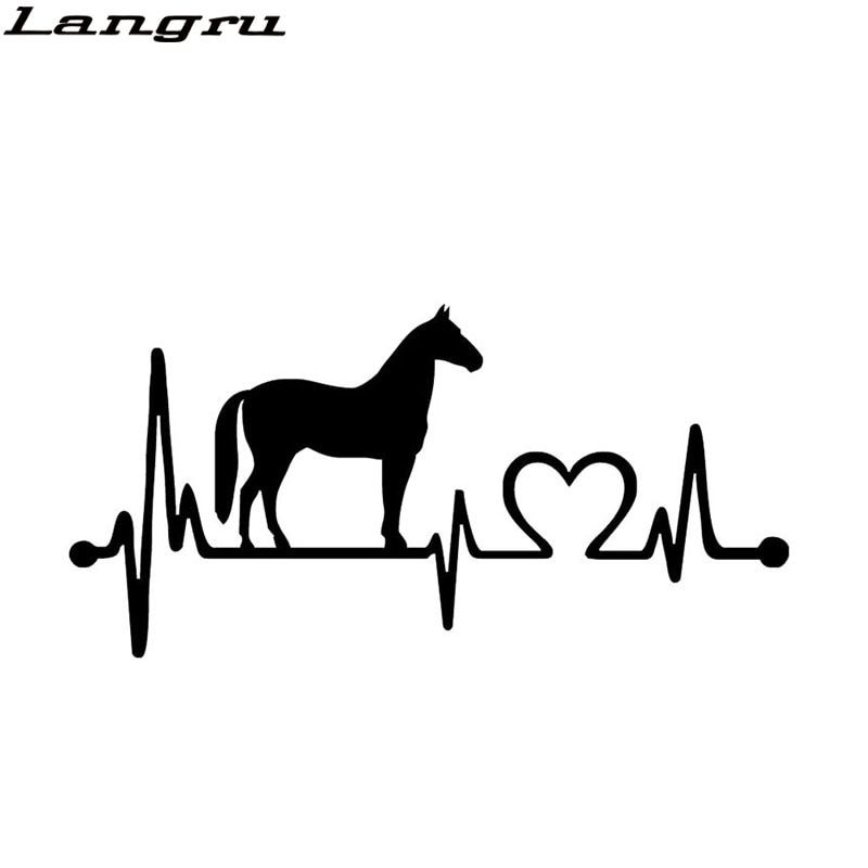 New Design Fashion Horse Heartbeat Decorative Car Sticker Animal Car Styling Decals Accessories Jdm