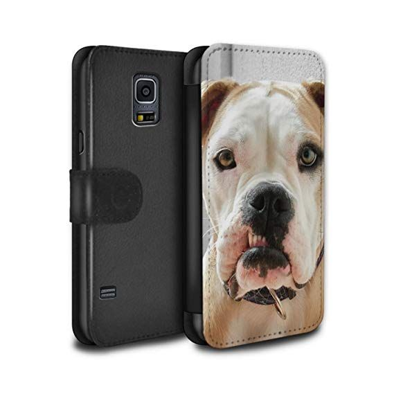 STUFF4 PU Leather Wallet Flip Case Cover for Samsung Galaxy S5 SV Gnashers