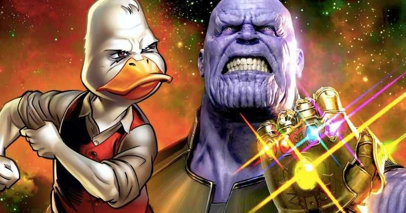 Avengers Infinity War Howard The Duck Cameo Thanos