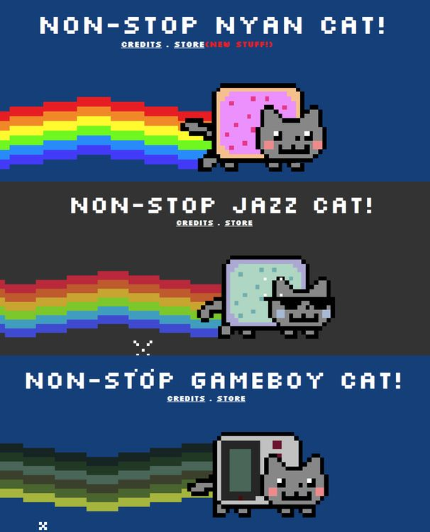 many faces of nyan cat 606