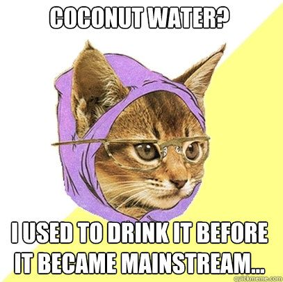 Coconut Water I Used To Drink Cat Meme
