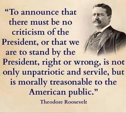 Quote about the US president being a fair tar of criticism