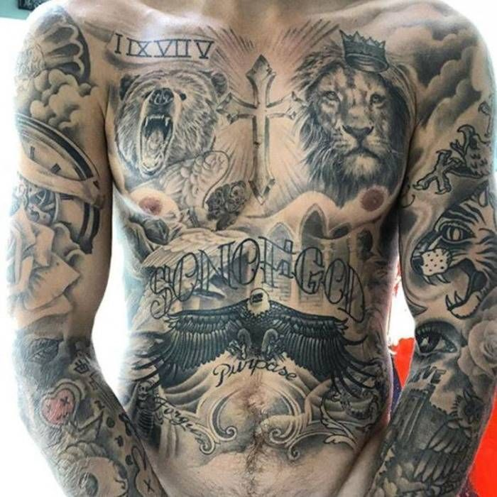 Justin Bieber Shows f 100 Hours of Tattoo Work in New Shirtless Selfie