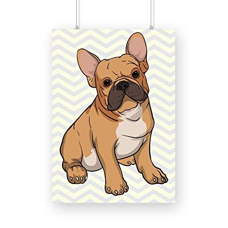 French Bulldog Frenchie Dog Home Decor Poster Funny Gift for Pet Lovers White Poster ly A4 Amazon Home & Kitchen