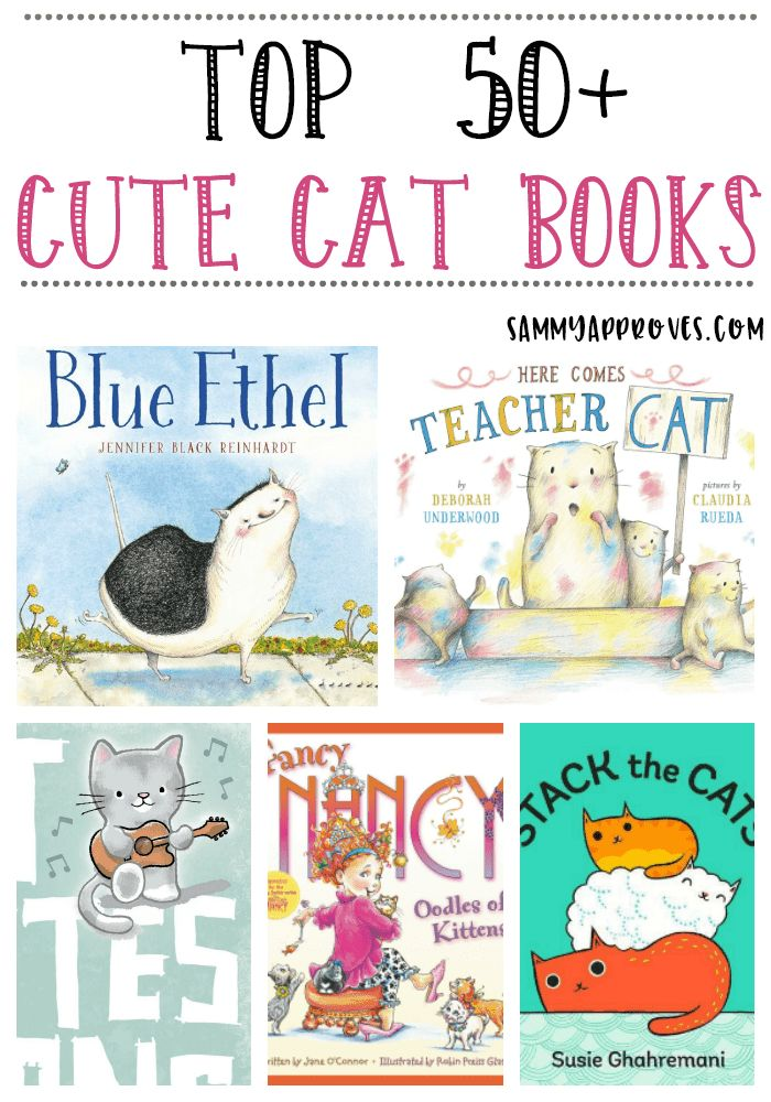 Check out all of our favorite cat books for toddlers and kids below