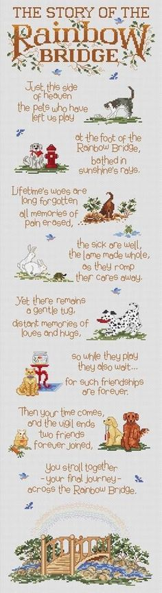 The story of the rainbow bridge Death Dog Quotes Losing A Dog Quotes