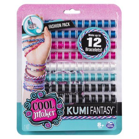 Cool Maker KumiFantasy Fashion Pack Makes Up to 12 Bracelets with the KumiKreator for Ages 8 and Up Walmart