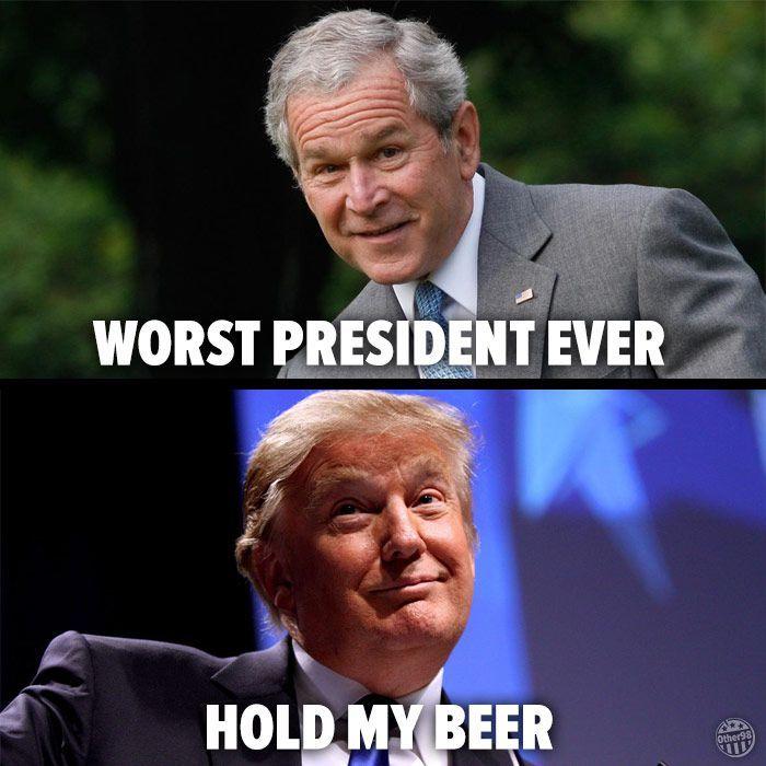 Hold my beer trump meme