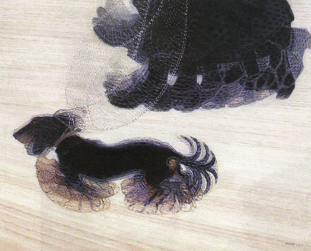 Great Works Dynamism of A Dog on a Leash 1912 Gia o Balla