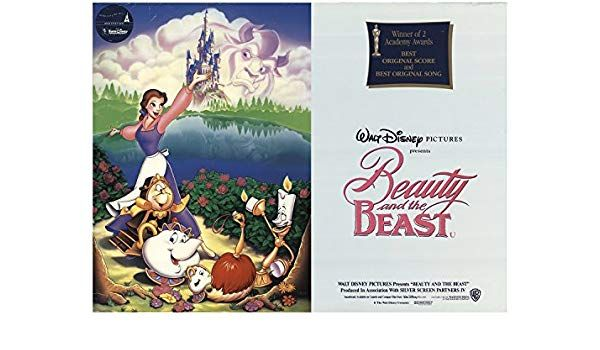 "Beauty and the Beast 1991 Authentic 30"" x 40"" Original Movie Poster Rolled Robby Benson Disney British Quad at Amazon s Entertainment Collectibles Store"