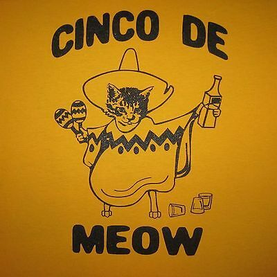 cinco de meow t shirt mayo funny cat kitten cats party drinking mexican t shirt