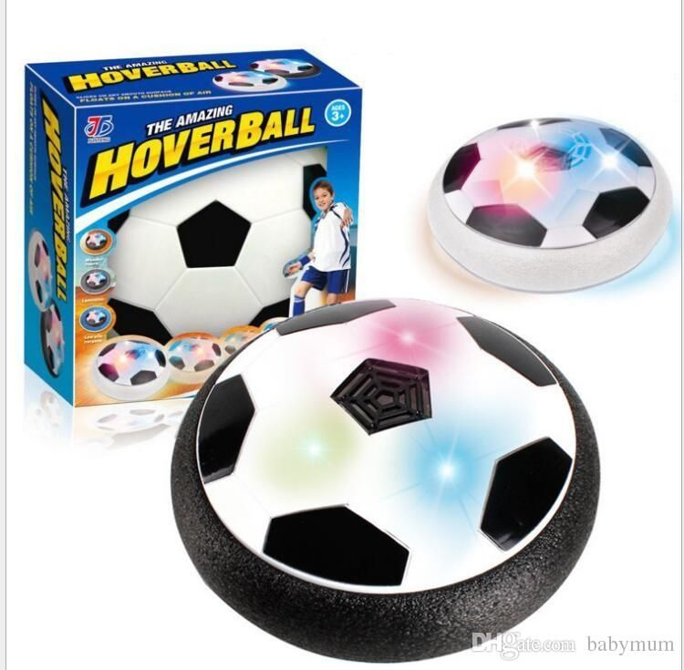 18cm Christmas Led Air Power Soccer Ball Disc Indoor Football Toy Multi surface Hovering and